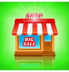 Shop icon Big sale vector image