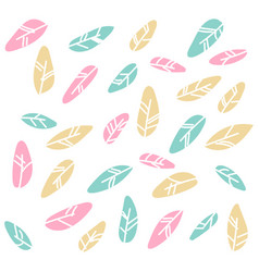 tribal flat feather different style bird vintage vector image