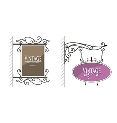 Vintage Wall Post Sign vector image