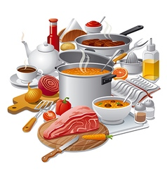 cooking meal vector image vector image
