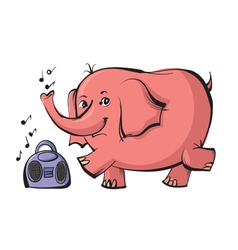 elephant dancing vector image vector image