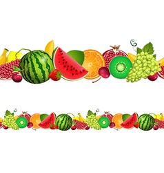 seamless border of fruit vector image vector image