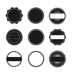 blank round stamps for logo vector image vector image