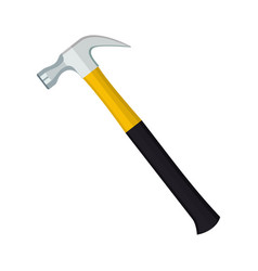 carpenter hammer tool icon vector image
