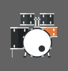 drum set icon music instrument concept vector image vector image