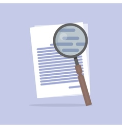 Flat of document Search icon vector image