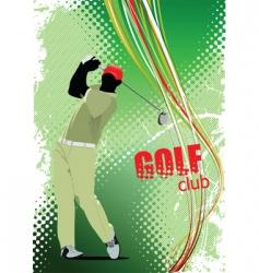 golf club vector image vector image