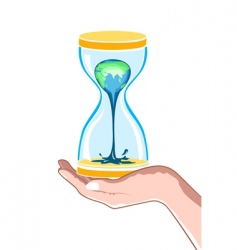 hour watch in hand vector image