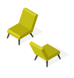 Isometric trendy chair vector
