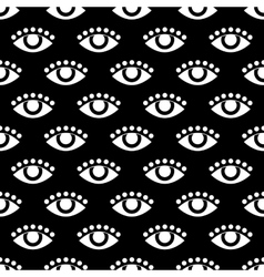 seamless pattern with eye flat vector image