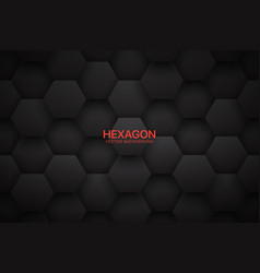 3d technological hexagonal blocks dark gray vector