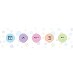 5 type icons vector