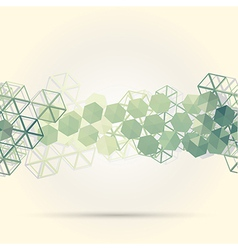 Abstract background with green hexagons vector image