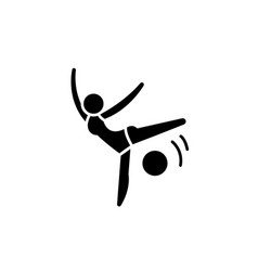 acrobatics black icon sign on isolated vector image