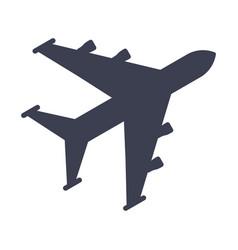 aircraft black icon vector image