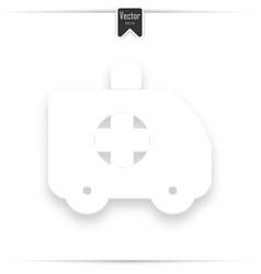ambulance icon medical vehicle icon vector image