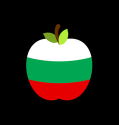 apple bulgaria flag bulgarian national fruit vector image