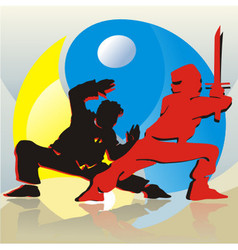 Asian Fighters vector