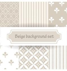Beige background set vector