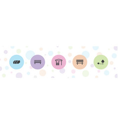 Bench icons vector