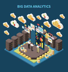 big data analytics composition vector image
