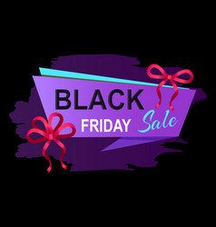 Black friday sale promotional banner with stripe vector