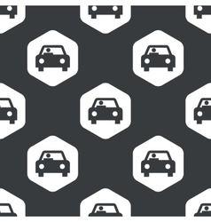 Black hexagon car pattern vector