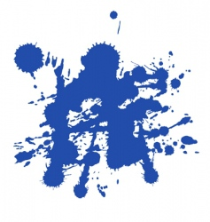 blue paint splat vector image