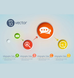 Business communications pictograph background vector