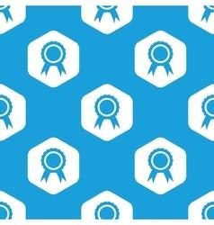 Certificate seal hexagon pattern vector