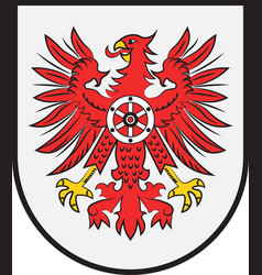 Coat of arms of eichsfeld in thuringia in germany vector