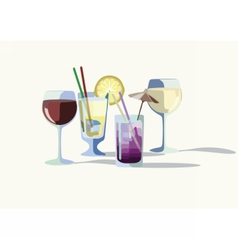 Cocktail drinks vector