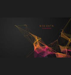 color medical analytics cloud concept dna big vector image