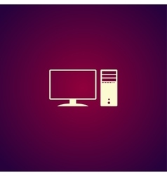 Computer icon Flat design style vector image