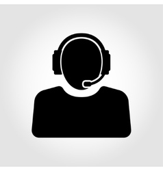 customer service icon Support Manager vector image