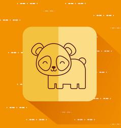 Cute panda bear icon vector
