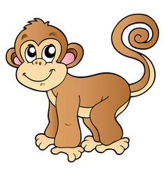 Cute small monkey vector