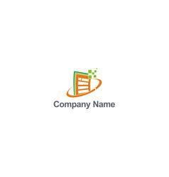 data digital technology file logo vector image