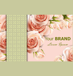 Delicate roses floral background abstract vector