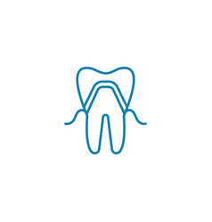dental implant linear icon concept dental implant vector image
