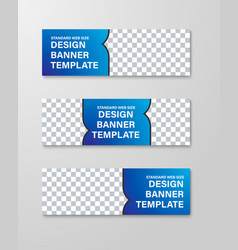 design horizontal web banners with place vector image