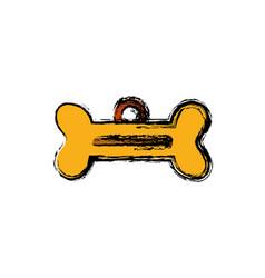 dog bone tag icon vector image