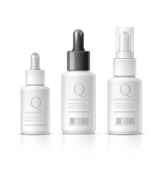 Essential oil set cosmetic products on a white vector