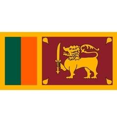 Flag of Sri Lanka correct size and colors vector image