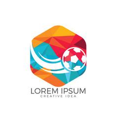football sport logo design template vector image