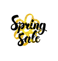 gold spring sale greeting vector image