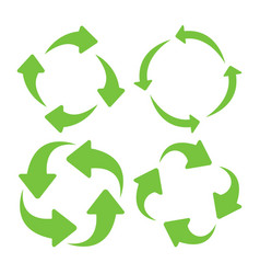 green square recycle vector image