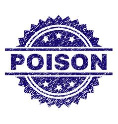 Grunge textured poison stamp seal vector