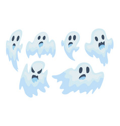 Halloween ghost set vector