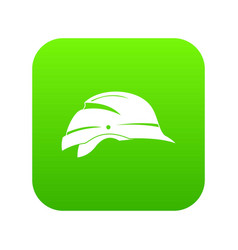 hardhat icon digital green vector image